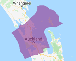 Auckland region map