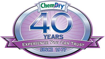 Chem-Dry 40 years of service logo