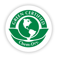Green Certified badge for Chem-Dry carpet cleaning services
